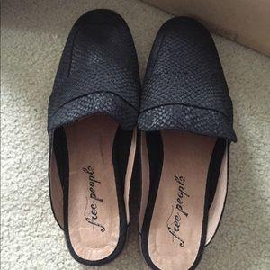 Free People At Ease Loafer/slides Black size 38
